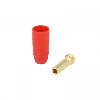 7 mm Goldsteckersystem AS150 - 150A - Stecker rot